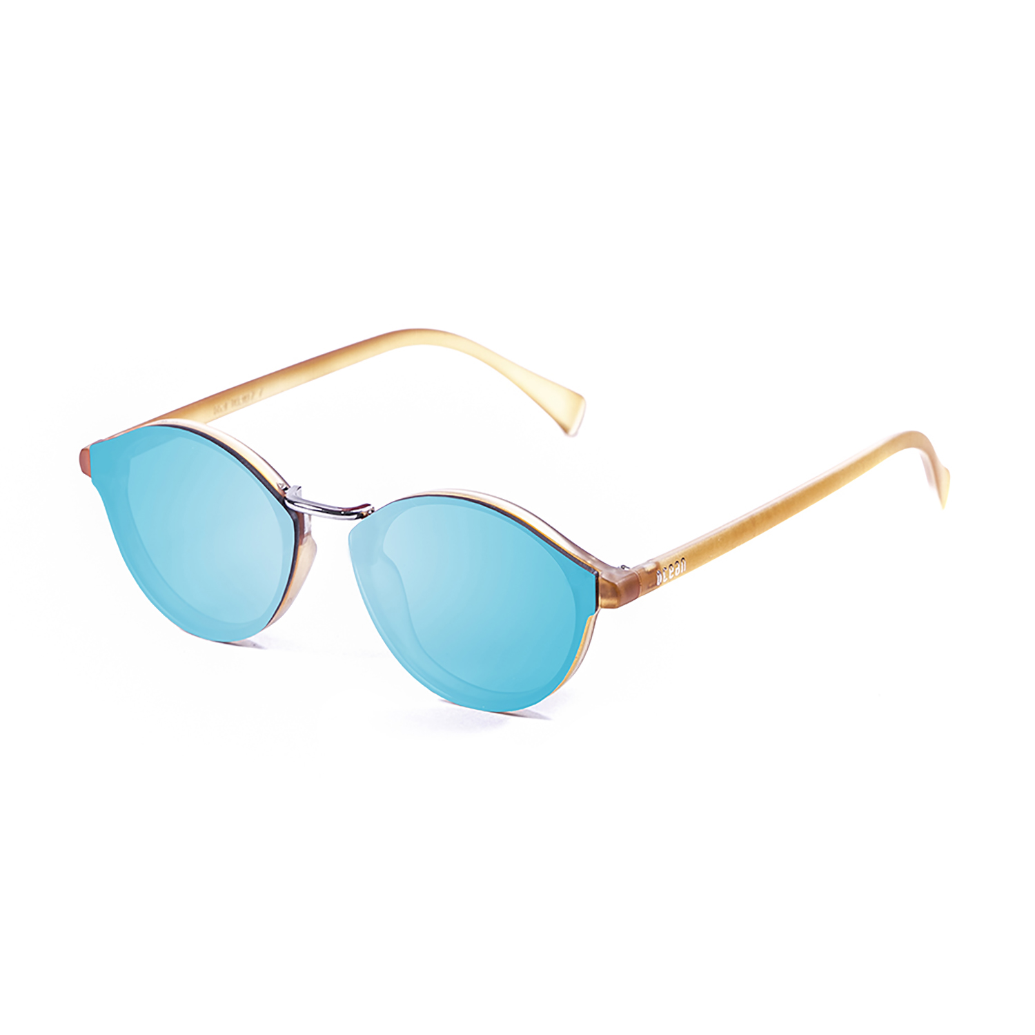 OCEAN LOIRET matte light brown frame with blue sky revo flat lens 10307.6