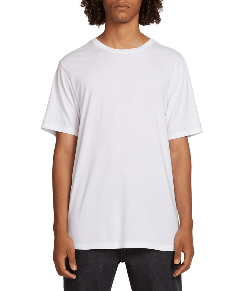 VOLCOM SOLID S/S TEE wht A5031807